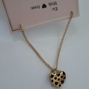Juicy Couture Lock & Key Charm Gold tone Necklace
